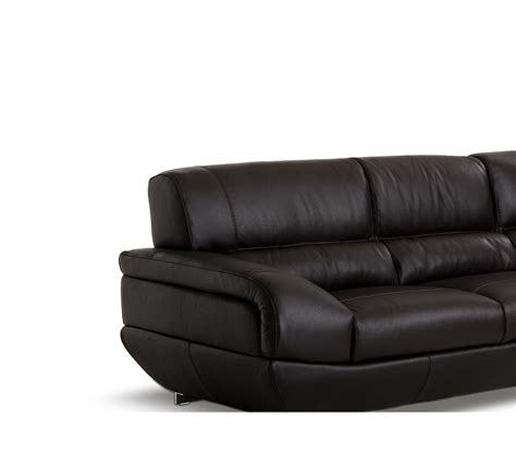 espresso leather couch dreamfurniture com alfred modern espresso leather