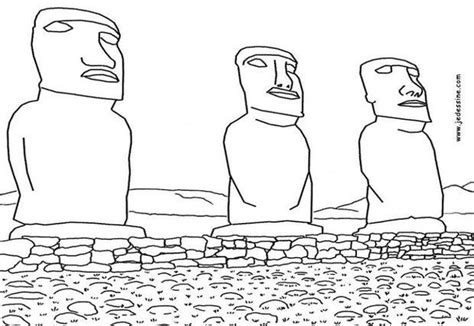 easter island coloring page moai of easter island coloring pages hellokids com