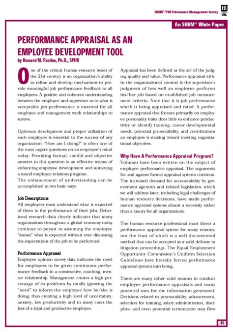 Download Performance Management Survey For Free Page 35 Formtemplate Performance Management Survey Template