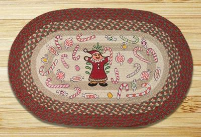 gingerbread rug gingerbread santa braided jute rug by capitol earth rug the patch