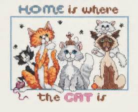 cat cross stitch kits for cat loving crafters