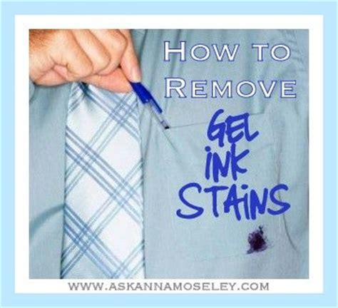How To Remove Pen Stains From how to clean gel ink stains from clothing a reader asked
