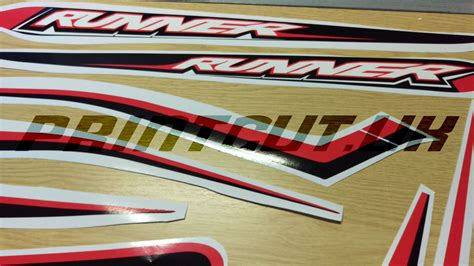 Decals Streping Ts125 E gilera runner 50 sp 125 st new shape sticker set stripes black white decals set