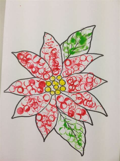 poinsettia pattern for kindergarten xmas crafts poinsettia printing kindergarten nadine s