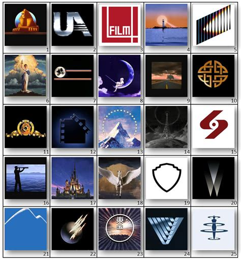 film logos quiz answers can you name the movie studio by logo by jimborama