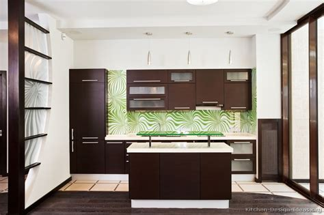 wood and glass kitchen cabinets pictures of kitchens modern dark wood kitchens page 2