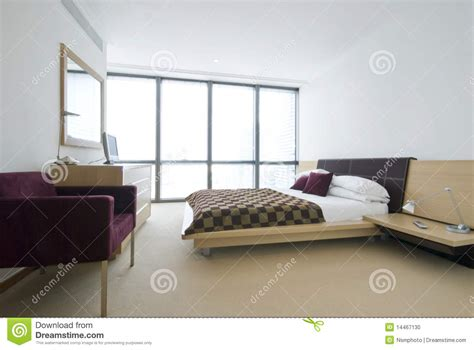 size of double bedroom modern double bedroom with king size bed stock photo