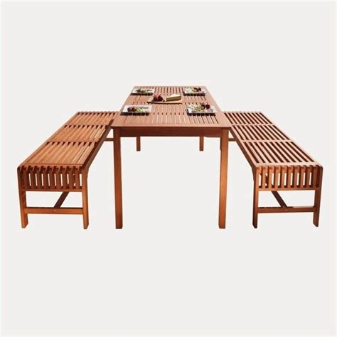 3 Piece Wood Patio Dining Set V98set5 3 Patio Dining Set