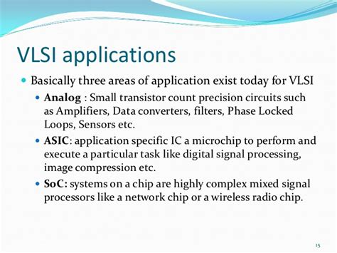 vlsi design application vlsi techniques