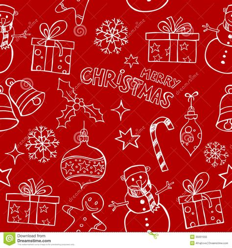 cute christmas pattern christmas doodles pattern royalty free stock photo image