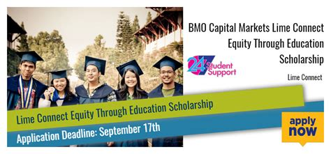 Commerce Bank Scholarship Sweepstakes 2017 - bmo capital markets lime connect equity through education scholarship 2017 2018