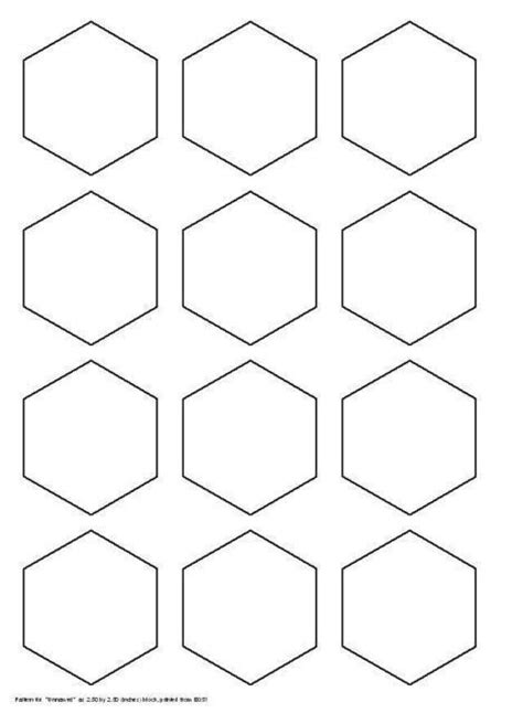 2 inch hexagon template 6 inch hexagon template