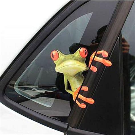 Sticker Stiker Kaca Stiker Stiker Kaca Motif 3 new car stickers design 3d peep frosch peep frosch cool car stickers and decal