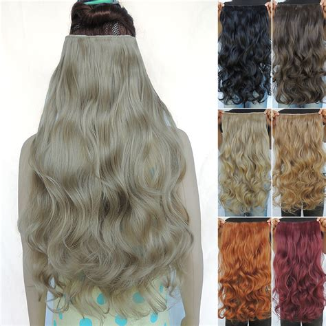 gfabke hair pieces in bsrrel curl clip in hair extensions synthetic extentions pieces 24inch