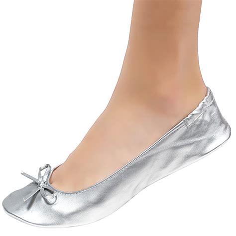 Silver Flats For Wedding by Wedding Ballet Flats Silver Cinderollies Bridal Flats