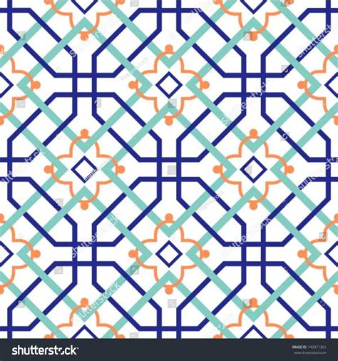 pattern tile illustrator oriental traditional ornament moroccan seamless pattern