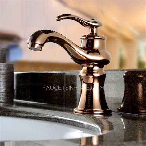 antique gold filtering single faucet bathroom
