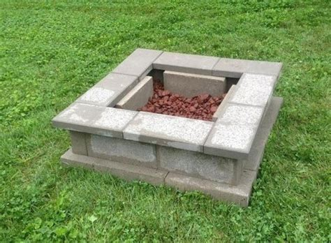 Lowes Concrete Bench Diy Cinderblock Firepit Idea