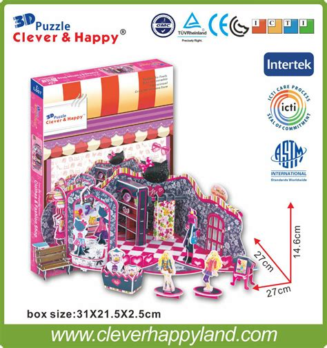 Puzzle 3d Clothes Shop buy wholesale fashion from china