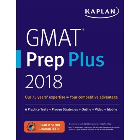 Kaplan Mba Prep by Kaplan Gmat Prep Plus 2018 6 Practice Tests Proven