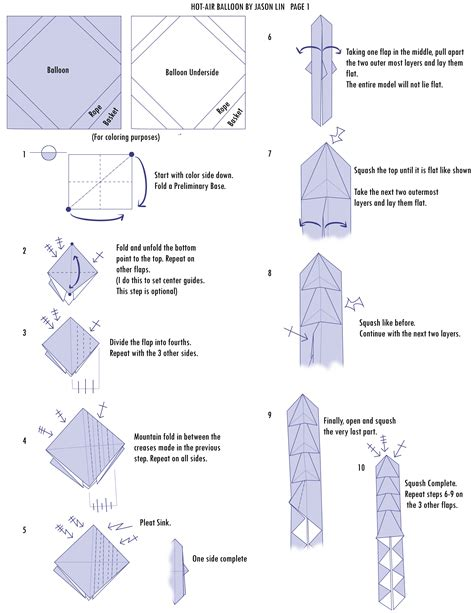 origami air balloon step by step lin海聞