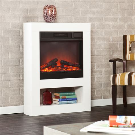 White Mantel Electric Fireplace by Hover To Zoom Click To Enlarge