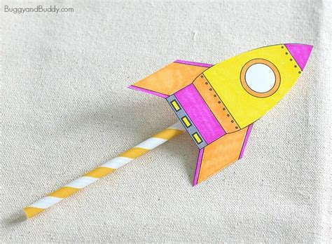 printable paper rockets straw rockets with free rocket template buggy and buddy