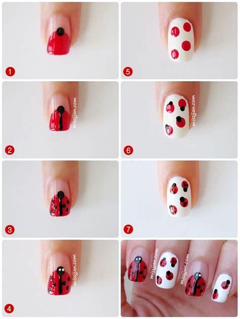 nail art tutorial on pinterest ladybug nail art nail art picture tutorials pinterest