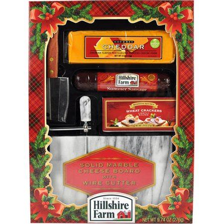 hillshire farm christmas gift set hilshire farm solid marble cheese board with wire cutter 10 2 oz walmart