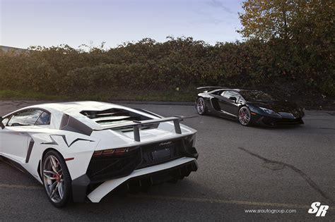 Lamborghini Aventador Custom Wheels Two Lamborghini Aventador Svs Show Their Custom Wheels