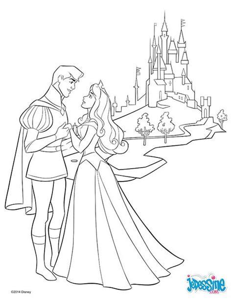 Coloriage Disney La Belle Au Bois Dormant Aurore Et Son Prince