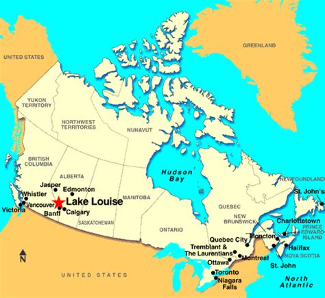 map of canada and lakes lake louise map canada toursmaps