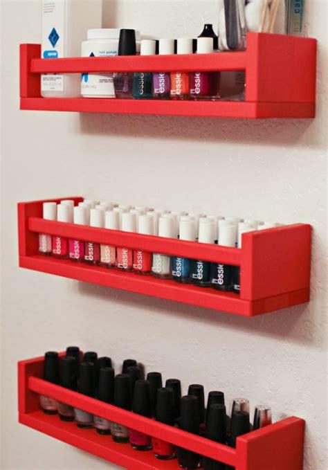 ikea nails ikea spice racks into nail polish storage diy cozy home