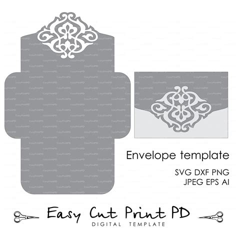 free card templates for cricut wedding envelope template instant cutting file