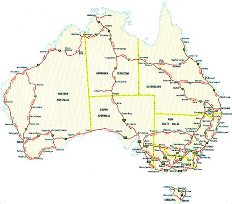 printable australian road maps tourist highways