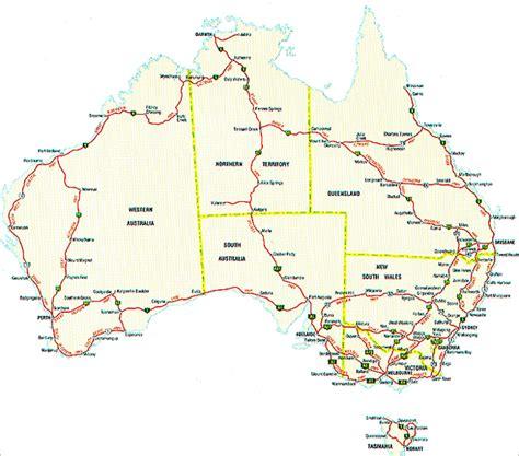 printable australia road map tourist highways