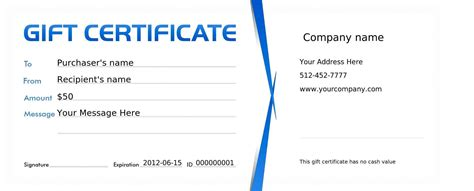 gift certificate template free free restaurant gift certificate template template