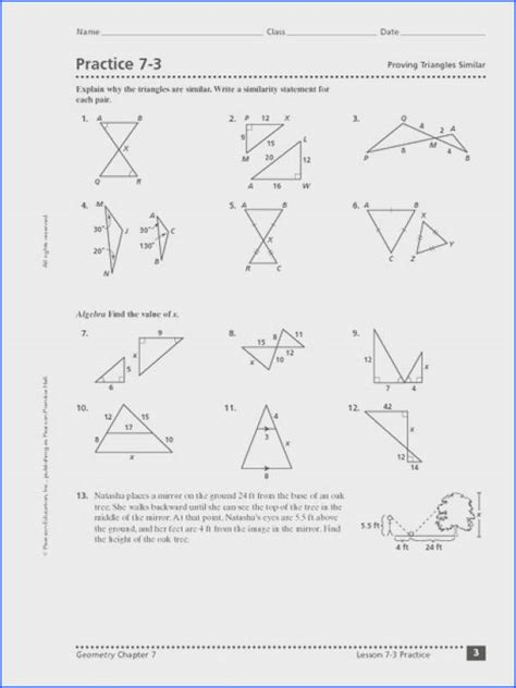 similar triangles worksheet with answers mychaume