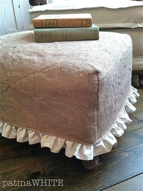 burlap ottoman slipcover 420 best slipcovers images on pinterest chairs