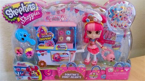 Boneka Plush Shopkins Original free shopkins shoppies doll playset donatina s donut delights mini exclusives new dolls
