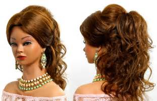afgan arabian hair cuts curly prom bridal hairstyle for long hair tutorial youtube