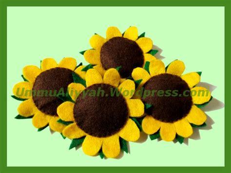 Membuat Kolase Matahari | membuat bunga matahari dari kain flanel ummu aliyyah ath