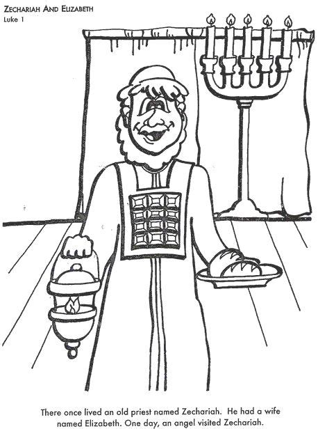 coloring page zechariah at the temple coloring bible coloring pages and coloring pages on