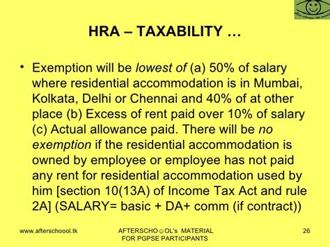 hra comes under which section of income tax section 10 hra 28 images tax compute hra calculation