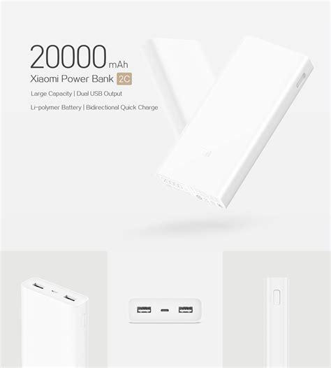 Power Bank Powerbank Xiaomi 20000 20000mah Generation 2 Fast Charging original xiaomi power bank 2c 20000mah white