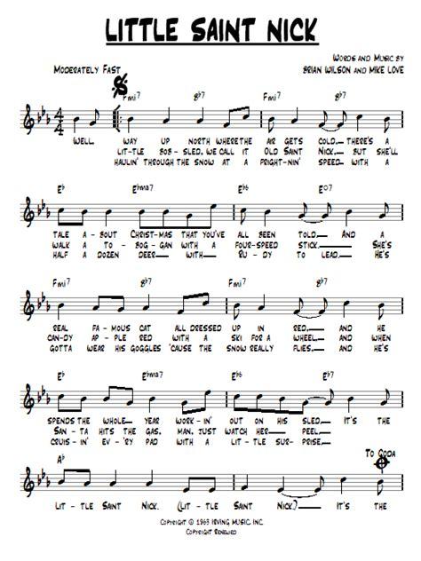 beach house sheet music little saint nick chords by the beach boys melody line lyrics chords 94108