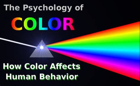 effect of colors on mood the psychology of color how color affects human behavior