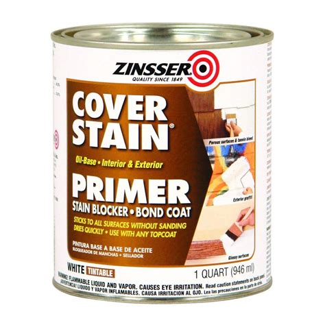 home depot paint with primer reviews zinsser 1 qt white cover stain based interior