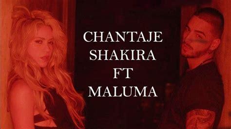 el arte del sencillo chantaje de shakira feat maluma cortesa sony escucha chantaje lo nuevo de shakira y maluma