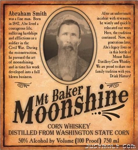 printable moonshine label mt baker moonshine corn whiskey print pinterest